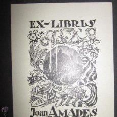 Arte: EX LIBRIS - JOAN AMADES - TUBAU (X-1056). Lote 43695861