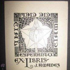 Arte: EX LIBRIS - J.AMADES -(X-1057). Lote 43695873