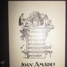 Arte: EX LIBRIS - JOAN AMADES - TUBAU (X-1058). Lote 43695884