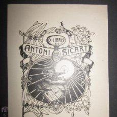 Arte: EX LIBRIS - ANTONI SICART - (X-1085). Lote 43695994
