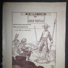 Arte: EX LIBRIS - JOAN BATLLE - BRUNET (X-1092). Lote 43696432