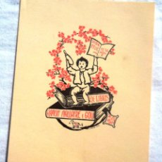 Arte: EX-LIBRIS RAMON MALLAFRÉ I GOU 1947. OBRA DE JOAN ANGLADA VILLÀ; EXLIBRIS BOOKPLATE. Lote 44886102