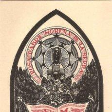 Arte: EX-LIBRIS DE JOAN ANGLADA VILLA PER MANUEL VIDAL Y LOPEZ - 1951. Lote 46397151