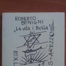 Arte: 1999 ROBERTO BENIGNI LA VITA ES BELLA - LIBRITO DE EX LIBRIS DE FILIPPIS - AREZZO. Lote 49145377