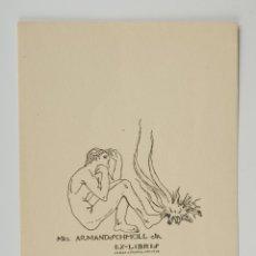 Arte: EX LIBRI ARMAND SCHMOLL ISMAEL SMITH. Lote 49354160