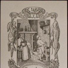 Arte: EX-LIBRIS PARA MARÍA ANTONIA ESCUDER, POR RICARDO ABAD (195?). Lote 50142797