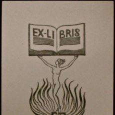 Arte: BOOKPLATE. EX-LIBRIS PARA F. CARBONARA. Lote 50168829