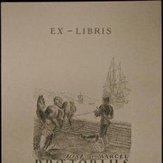 Arte: BOOKPLATE. EX-LIBRIS PARA JOSE ET MARCEL PRŒTORIUS. Lote 50169041