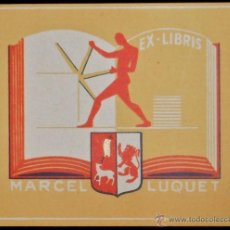 Arte: BOOKPLATE. EX-LIBRIS PARA MARCEL LUQUET. Lote 50194691