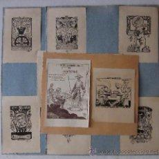 Arte: COLECCION DE 12 EXLIBRIS ORIGINALES. Lote 50425402