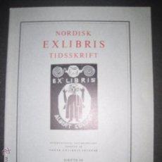 Arte: EX LIBRIS - REVISTA NORDISK TIDSSKRIFT- AÑO 1970 -NUM. 98 -CON 5 EXLIBRIS ORIGINALES A COLOR PEGADOS. Lote 51716652