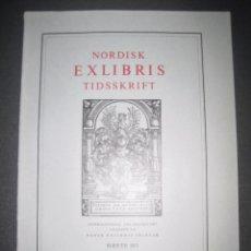 Arte: EX LIBRIS - REVISTA NORDISK TIDSSKRIFT-AÑO 1971 -NUM. 103 -CON 5 EXLIBRIS ORIGINALES A COLOR PEGADOS. Lote 51716989