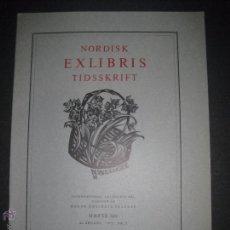 Arte: EX LIBRIS - REVISTA NORDISK TIDSSKRIFT-AÑO 1972 -NUM. 106 -CON 5 EXLIBRIS ORIGINALES A COLOR PEGADOS. Lote 51717156