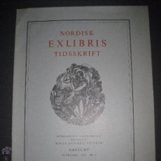 Arte: EX LIBRIS - REVISTA NORDISK TIDSSKRIFT-AÑO 1972 -NUM. 107 -CON 6 EXLIBRIS ORIGINALES A COLOR PEGADOS. Lote 51717200