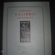 Arte: EX LIBRIS - REVISTA NORDISK TIDSSKRIFT-AÑO 1975 -NUM. 117 -CON 7 EXLIBRIS ORIGINALES A COLOR PEGADOS. Lote 51717615