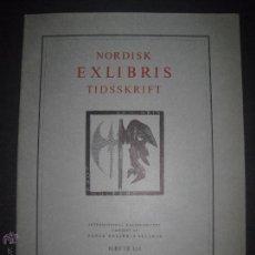Arte: EX LIBRIS - REVISTA NORDISK TIDSSKRIFT-AÑO 1975 -NUM. 118 -CON 5 EXLIBRIS ORIGINALES A COLOR PEGADOS. Lote 51717657