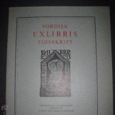 Arte: EX LIBRIS - REVISTA NORDISK TIDSSKRIFT-AÑO 1975 -NUM. 120 -CON 5 EXLIBRIS ORIGINALES A COLOR PEGADOS. Lote 51717702