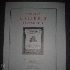 Arte: EX LIBRIS - REVISTA NORDISK TIDSSKRIFT-AÑO 1976 -NUM. 124 -CON 5 EXLIBRIS ORIGINALES A COLOR PEGADOS. Lote 51717884
