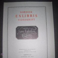 Arte: EX LIBRIS - REVISTA NORDISK TIDSSKRIFT-AÑO 1977 -NUM. 127 -CON 6 EXLIBRIS ORIGINALES A COLOR PEGADOS. Lote 51718028