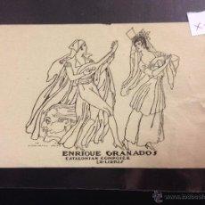 Arte: EX LIBRIS - ENRIQUE GRANADOS - CATALONIAN COMPOSER - DIBUJO ISMAEL SMITH - (X- 1163). Lote 52886818