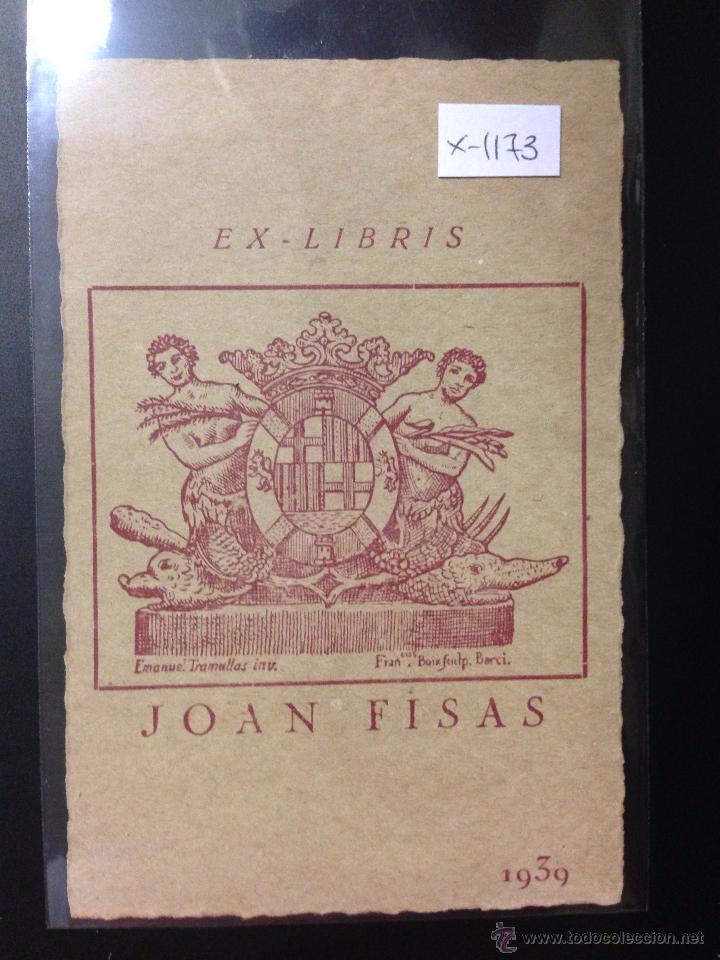EX LIBRIS - JOAN FISAS - (X- 1173) (Arte - Ex Libris)