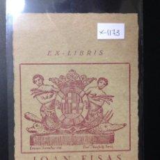 Arte: EX LIBRIS - JOAN FISAS - (X- 1173). Lote 52887266
