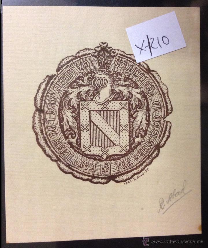 EX LIBRIS - (X- 1210) (Arte - Ex Libris)