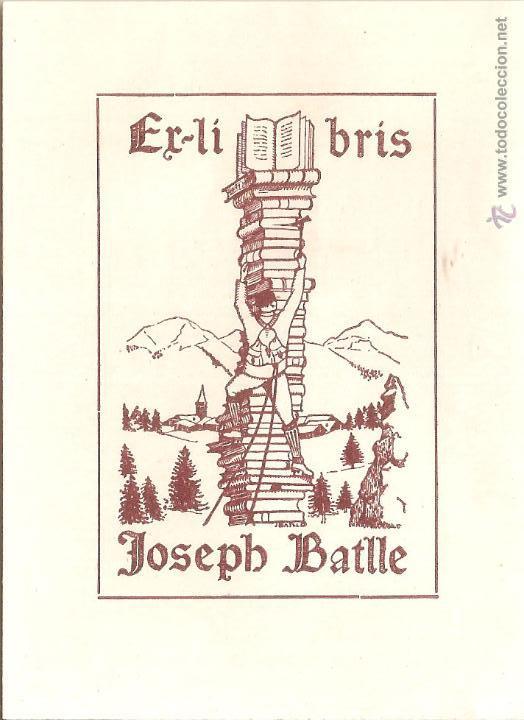 EX-LIBRIS DE JOAN BATLLE I TEJEDOR PER JOSEPH BATLLE - 1924 (Arte - Ex Libris)