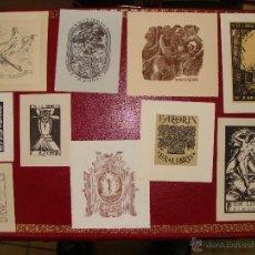 Arte: LOTE DE 10 EX-LIBRIS F. AZORIN, ZARAGOZA. RIU, ORGA, ROMO, CASTILLO. 1947-48. Lote 54184113
