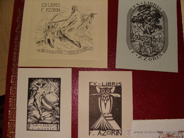 Arte: LOTE DE 10 EX-LIBRIS F. AZORIN, ZARAGOZA. RIU, ORGA, ROMO, CASTILLO. 1947-48 - Foto 2 - 54184113