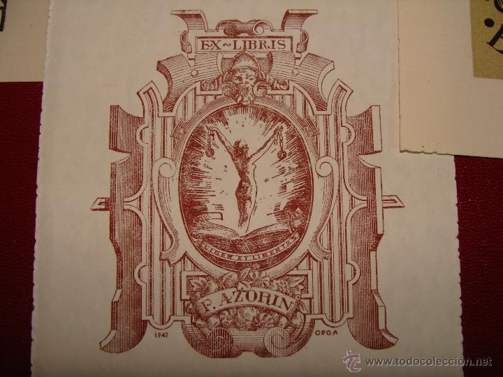 Arte: LOTE DE 10 EX-LIBRIS F. AZORIN, ZARAGOZA. RIU, ORGA, ROMO, CASTILLO. 1947-48 - Foto 3 - 54184113