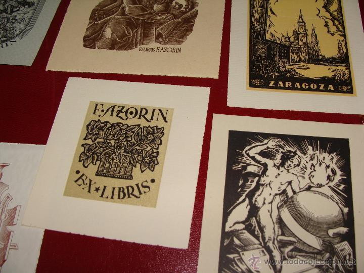 Arte: LOTE DE 10 EX-LIBRIS F. AZORIN, ZARAGOZA. RIU, ORGA, ROMO, CASTILLO. 1947-48 - Foto 5 - 54184113