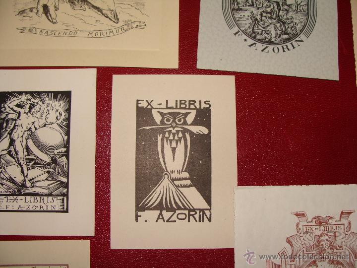 Arte: LOTE DE 10 EX-LIBRIS F. AZORIN, ZARAGOZA. RIU, ORGA, ROMO, CASTILLO. 1947-48 - Foto 6 - 54184113
