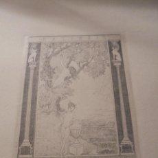 Arte: ANTIGUO EXLIBRIS - 1918 , AUTOR , ROLF SCHOTT - GRABADO PUNTA SECA . 24,5X21,5 CM. ELSEHAENLEIN . . Lote 54204470