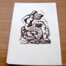 Arte: EX LIBRIS DE A. DE LA VEGA - DIBUJANTE ILUSTRADOR I. VIDAL (FIRMADO) - 17 X 12 CMS.. Lote 55882218