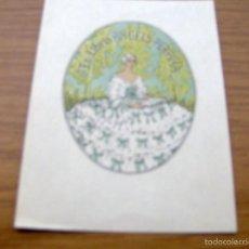 Arte: EX LIBRIS DE ANGELS PERPIÑA - FIRMADO IGNASI VIDAL , DIBUJANTE ILUSTRADOR - 12,5 X 9,5 CM.. Lote 55882453
