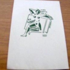 Arte: EX LIBRIS DE JOSEP TORRES - FIRMADO IGNASI VIDAL , DIBUJANTE ILUSTRADOR - 17 X 11,5 CM.. Lote 55882542