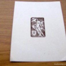 Arte: EX LIBRIS DE J. F. - 14 X 11 CM.. Lote 55882694