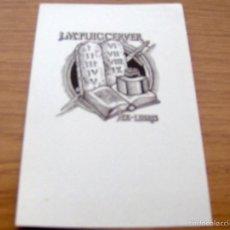 Arte: EX LIBRIS DE J. Mª. PUIG TORNER - 17 X 11 CM.. Lote 55883015
