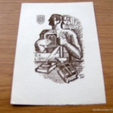 Arte: EX LIBRIS DE J. VALLS BIGORRA - FIRMADO IGNASI VIDAL , DIBUJANTE ILUSTRADOR - 17 X 12 CM.. Lote 55883756
