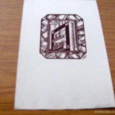 Arte: EX LIBRIS DE E. M. S. - FIRMADO I. VIDAL , DIBUJANTE ILUSTRADOR - 16,5 X 11,5 CM.. Lote 55883911