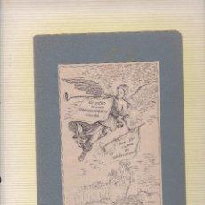 Arte: EXLIBRIS FERNDINANDO PASQUINELLI ITALIA 1913 (16X10CTMS.) PEGADO LIGERAMENTE A UNA CARTULINA. Lote 56312134