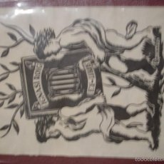 Arte: EX-LIBRIS IGNASI ROIG 8 X 10,50 CM - PORTAL DEL COL·LECCIONISTA ***. Lote 57179732