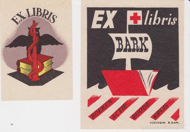Arte: 12 EXLIBRIS (MEDICINA, FARMACIA, COMERCIO, PINTURA, CABALLOS, PAISAJES, LECTURA, ETC... - Foto 4 - 57305371