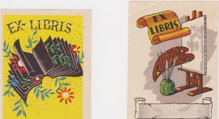 Arte: 12 EXLIBRIS (MEDICINA, FARMACIA, COMERCIO, PINTURA, CABALLOS, PAISAJES, LECTURA, ETC... - Foto 11 - 57305371