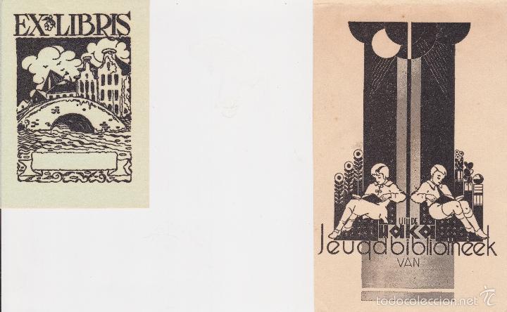 Arte: 12 EXLIBRIS (MEDICINA, FARMACIA, COMERCIO, PINTURA, CABALLOS, PAISAJES, LECTURA, ETC... - Foto 13 - 57305371