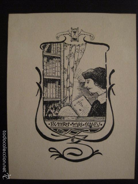 EX LIBRIS - LOUIS ESQUIEV - VER FOTOS -(X-1342) (Arte - Ex Libris)