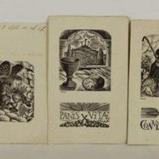 Arte: CRO-004. COLECCION DE 7 GRABADOS. EXLIBRIS RELIGIOSOS. ENRIC CRISTOFOR RICART. 1943.. Lote 54754234