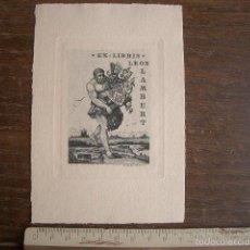 Arte: EXLIBRIS GRABADO A PUNTA SECA DE GEORGES HANTZ 1914. DE LA BIBLIOTECA DE LEÓN LAMBERT. Lote 57945925