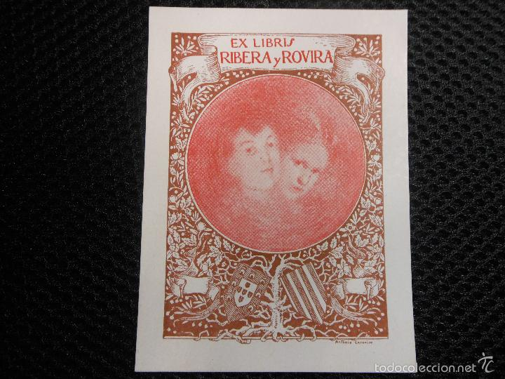 EX LIBRIS DE ANTONIO CARNICERO PARA RIBERA Y ROVIRA 1908 EXLIBRIS (Arte - Ex Libris)
